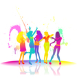 Dancing women at disco vector image