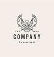 eagle hawk hipster vintage logo icon vector image vector image