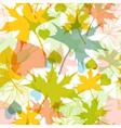 Fall leaves seamless pattern vector image vector image