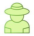 farmer flat icon gardener green icons in trendy vector image vector image
