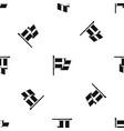 flag of sweden pattern seamless black vector image vector image