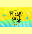 flash sale modern design banner vector image vector image