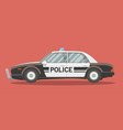 flat police car vector image vector image
