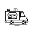 food trucks line icon concept sign outline vector image