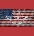 for veterans day graphic vector image vector image