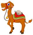 funny camel cartoon vector image vector image