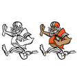 funny football player cartoon vector image vector image
