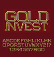 golden faceted letters and numbers presentable vector image vector image