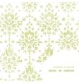 green textile damask flower frame corner pattern vector image vector image