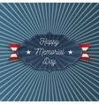 Happy Memorial Day national Label with Text vector image vector image