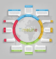 infographic circle timeline template vector image