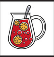 jug with lemonade vector image