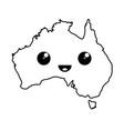 kawaii map of australia vector image vector image