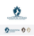 kingdom guard logo design vector image vector image