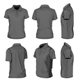 Mens black short sleeve polo-shirt vector image vector image