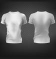 mens fitting t-shirt 3d realistic mockup vector image vector image