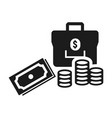 money icon simple style vector image