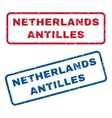 Netherlands Antilles Rubber Stamps vector image vector image
