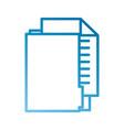 office folder file document paper information vector image
