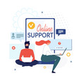online support and virtual help service banner vector image vector image
