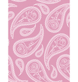 paisley seamless pattern with roses vector image vector image