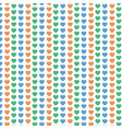 pattern background love heart icon vector image