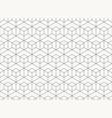 pattern hexagon design geometric black line vector image vector image