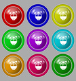 Perfume icon sign symbol on nine round colourful vector image vector image