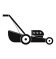 petrol grass cut machine icon simple style vector image vector image