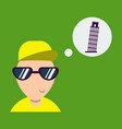 pisa tower with a tourist vector image vector image