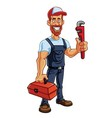 Plumber Cartoon Mascot vector image