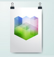 poster minimal design template business geometric vector image vector image