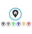 realty map marker rounded icon vector image vector image