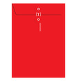Red sealed envelope vector image vector image