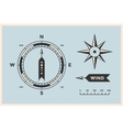 rose wind and compass set vintage arrows vector image