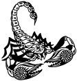scorpion black white vector image vector image