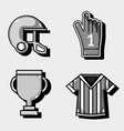 set amercan football elements to competition vector image vector image