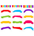 set colorful ribbon banners vector image vector image