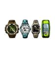 set mens wristwatches vector image