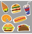 Set menu for fast food restaurants and fast food vector image