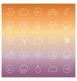 Set of linear weather icons vector image vector image
