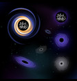 several black holes vector image