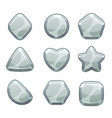 silver shapes set vector image
