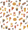 snacks seamless pattern vector image vector image