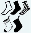 Socks and hristmas stocking vector image