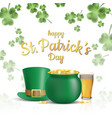 st patricks day background design vector image vector image