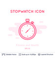 stopwatch icon isolated on white vector image vector image