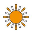 sun cartoon icon image vector image vector image
