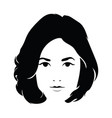 the head of a beautiful girl face of a young vector image vector image