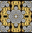 traditional classic golden pattern with white vector image vector image